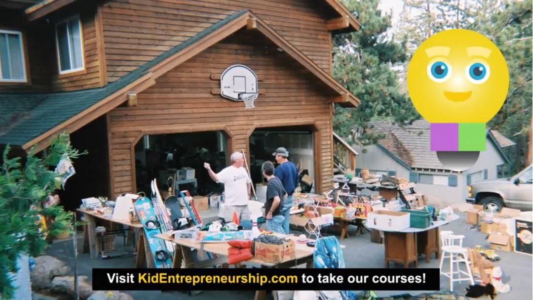 Garage sale business for kids